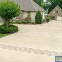 driveway with brick pattern sections