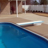 pool brown brick edging two patterns