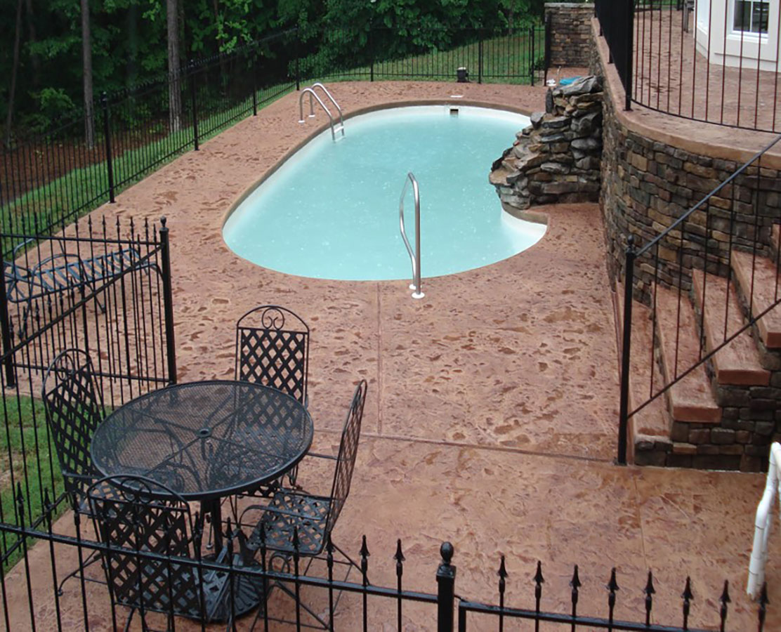 Stamped Pool Deck AfterW 1