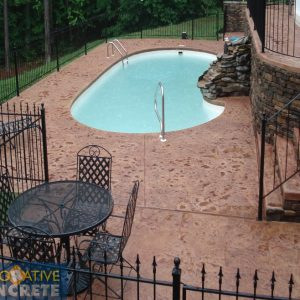 Stamped Pool Deck After wDC