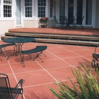 Patio-with-wooden-stepsW