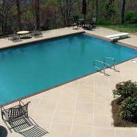 Pool deck brick edging cream coating