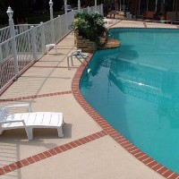 Pool deck brick edging inserts