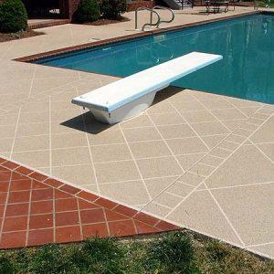 Pool deck several patterns in tan