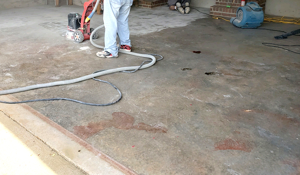 garage floor grinding for epoxy