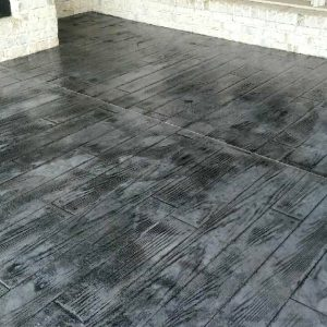 Stamped Covered Patio Gray Wood look